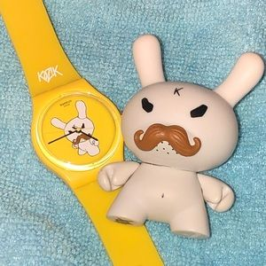 "Swatch Watch, Mustache Dunny 3"" Kidrobot"